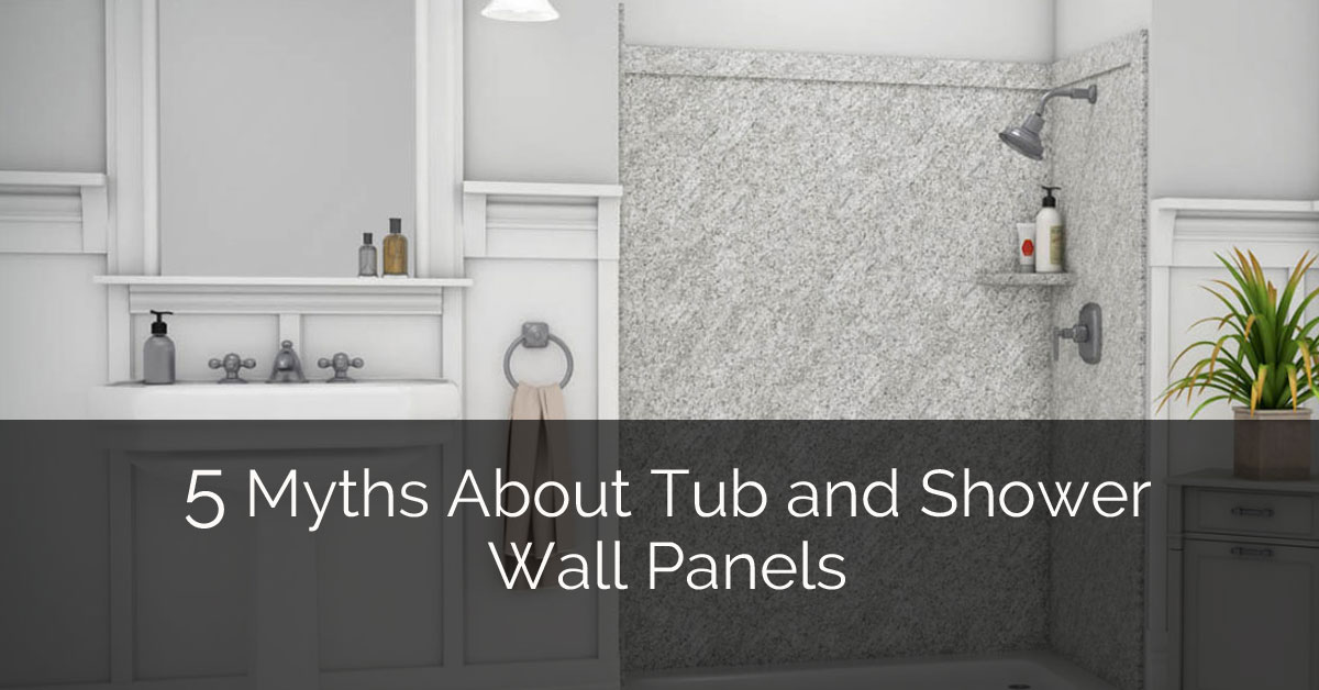 Myths About Tub And Shower Wall Panels Home Remodeling - Fake tile panels for bathroom walls