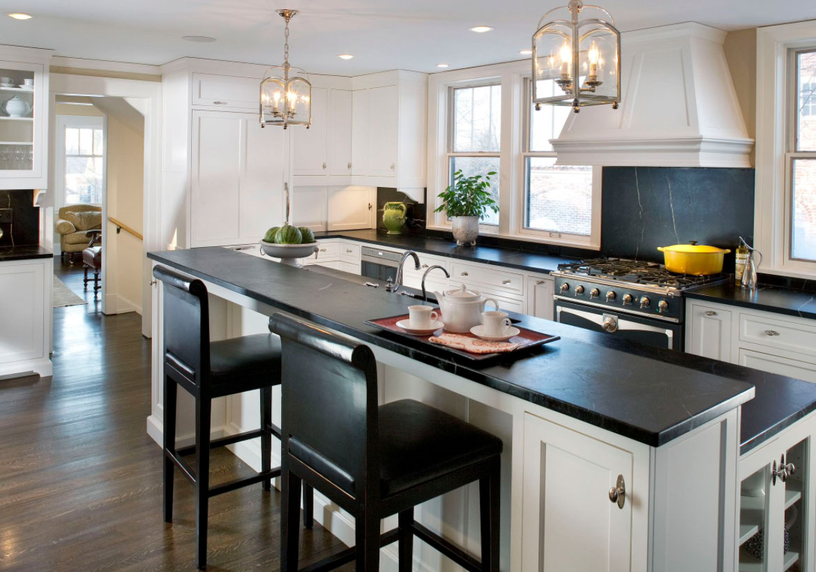 Kitchen Ideas With White Cabinets And Dark Countertops