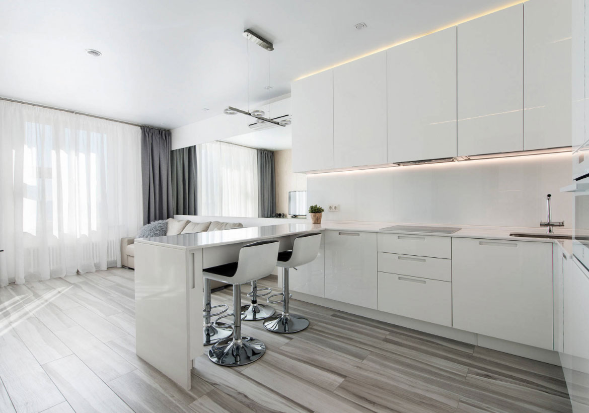 Modern White Kitchen Cabinets