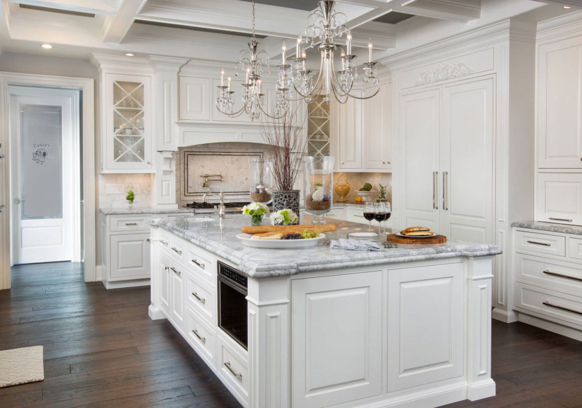35 fresh white kitchen cabinets ideas to brighten your space home rh sebringdesignbuild com kitchens with white cabinets and light granite countertops kitchens with white cabinets and dark granite countertops