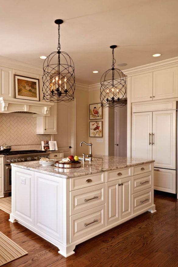 Distress White Kitchen Cabinets
