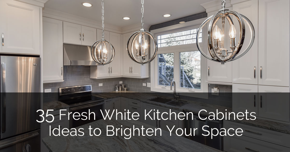 35 Fresh White Kitchen Cabinets Ideas to Brighten Your Space ... on ideas for white kitchen cabinets, ideas for white bathroom tile, ideas for white kitchen backsplash,
