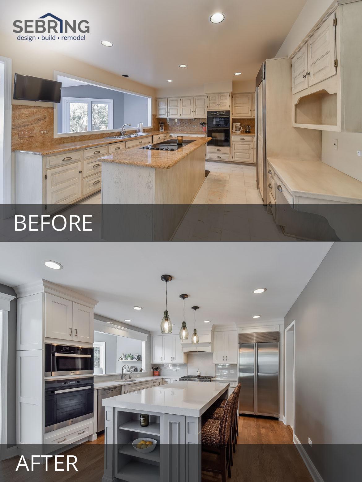 Naperville Kitchen Remodeling Before and After Pictures - Sebring Design Build