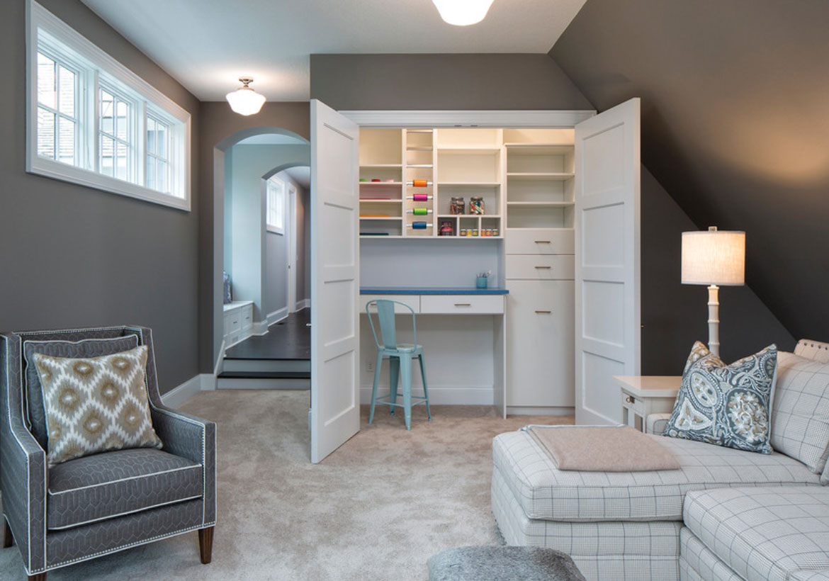 43 Clever & Creative Craft Room Ideas | Home Remodeling Contractors ...
