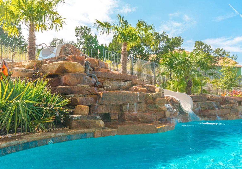 63 Invigorating Backyard Pool Ideas & Pool Landscapes ... on Backyard Rockscape Ideas id=86477