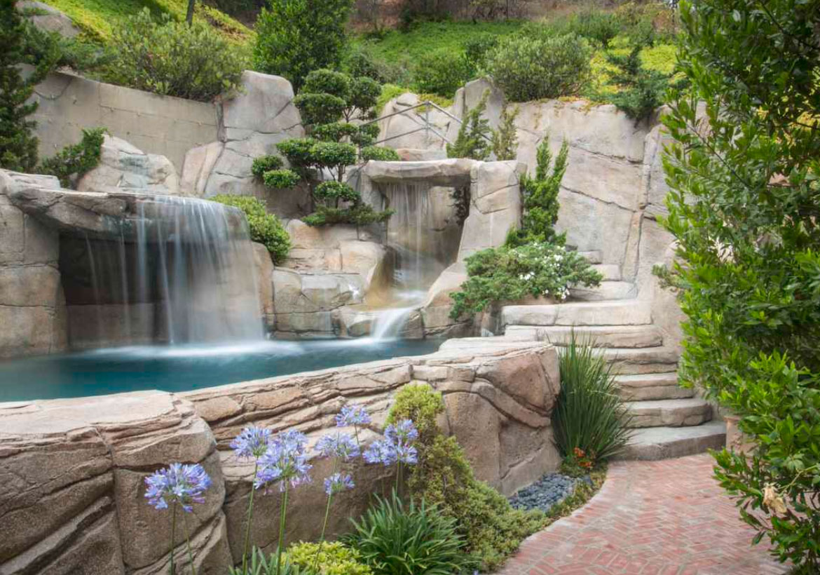 63 Invigorating Backyard Pool Ideas & Pool Landscapes Designs | Home on rock front yard designs, desertscape front yard designs, landscaping front yard designs,