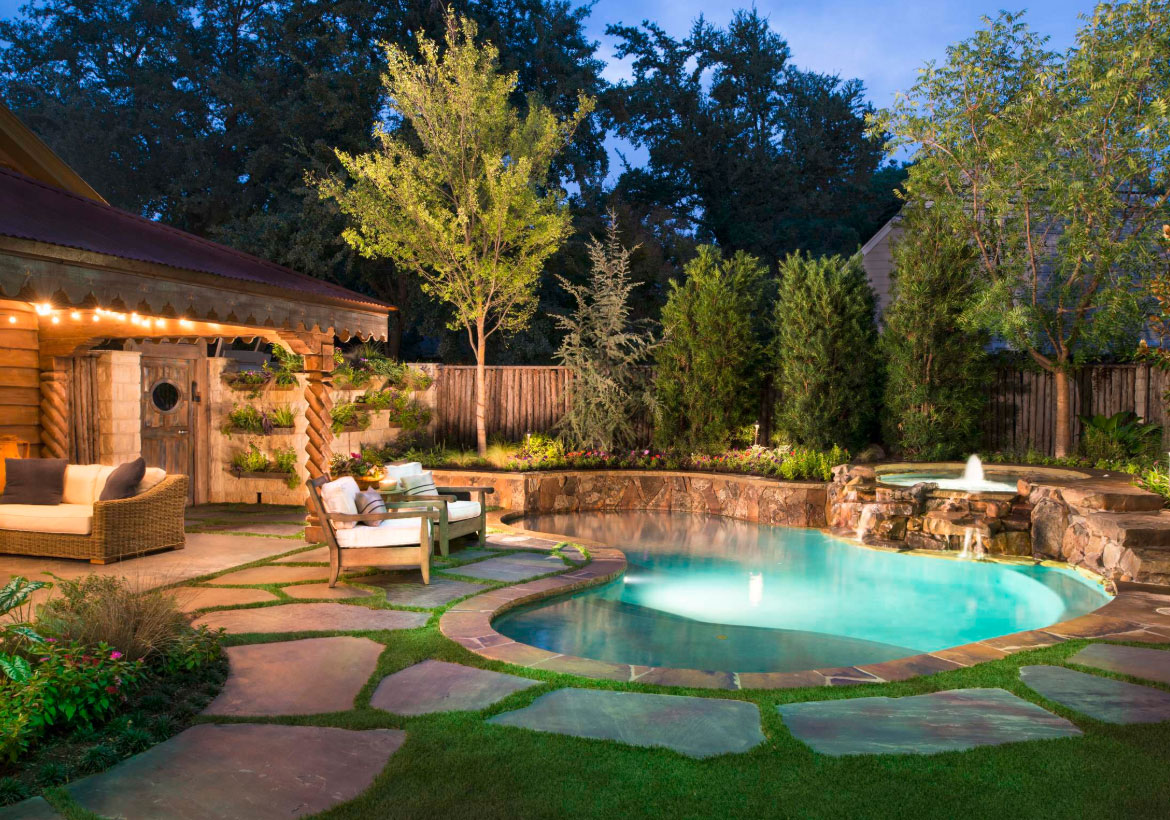 63 Invigorating Backyard Pool Ideas Pool Landscapes Designs