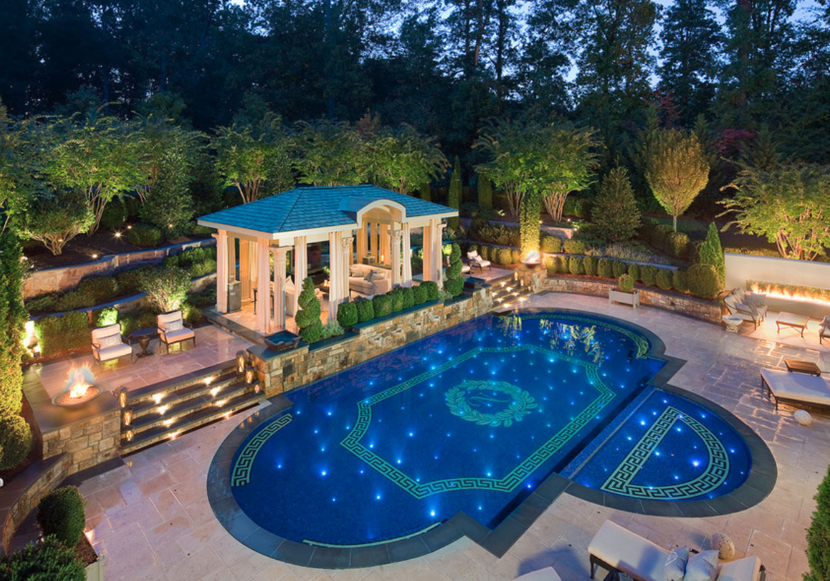 63 invigorating backyard pool ideas pool landscapes for Pool design ideas