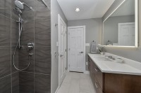 Modern Naperville Hall Bath - Sebring Design Build