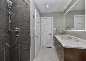 Modern Naperville Hall Bath - Sebring Design Build