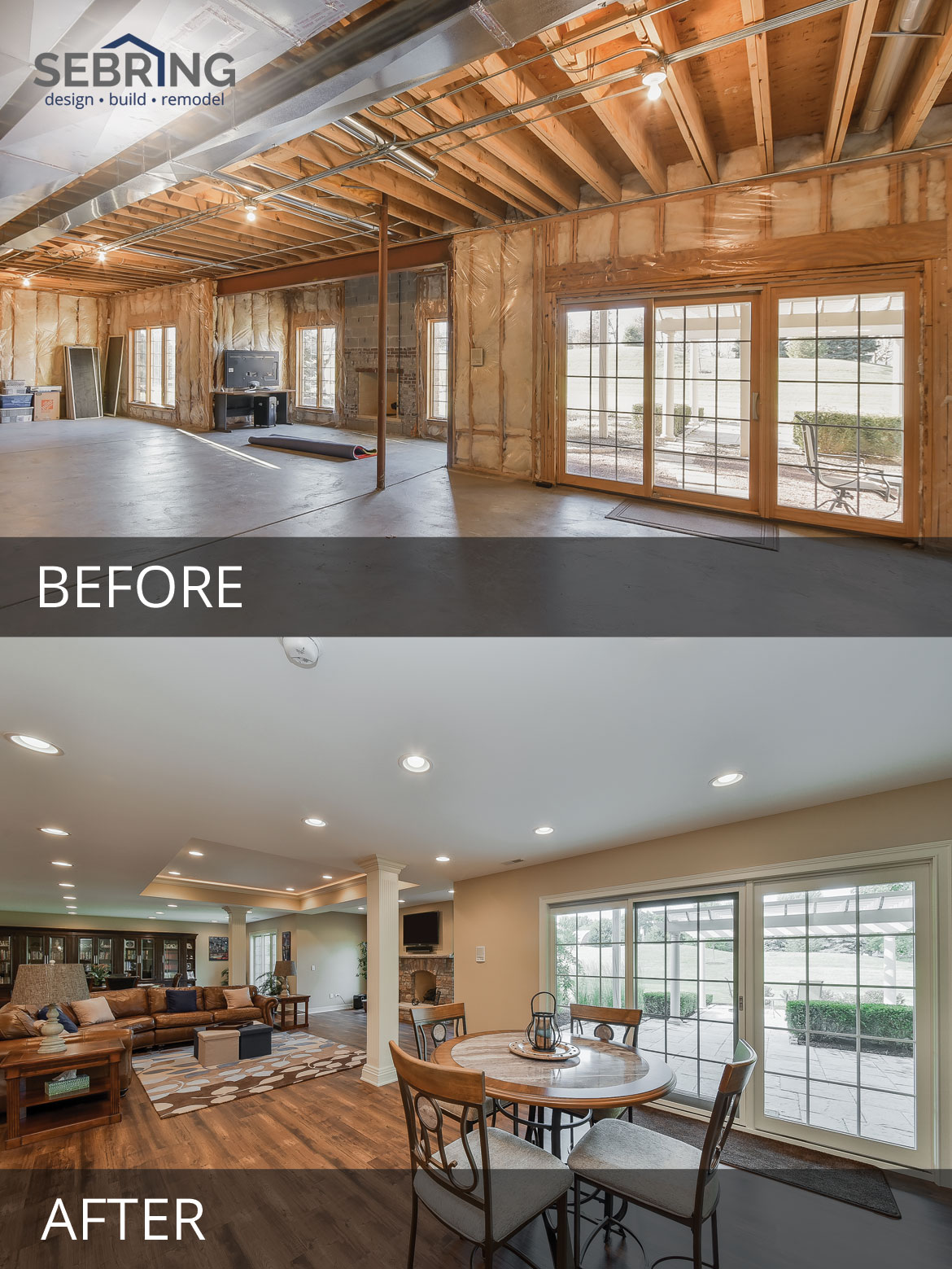 Bill S Basement Remodel Before After Pictures