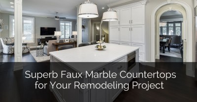 Superb Faux Marble Countertops For Your Remodeling Project Sebring Design Build