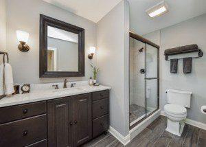Wheaton Bathroom Remodel Rustic Wood Look Tile - Sebring Design Build