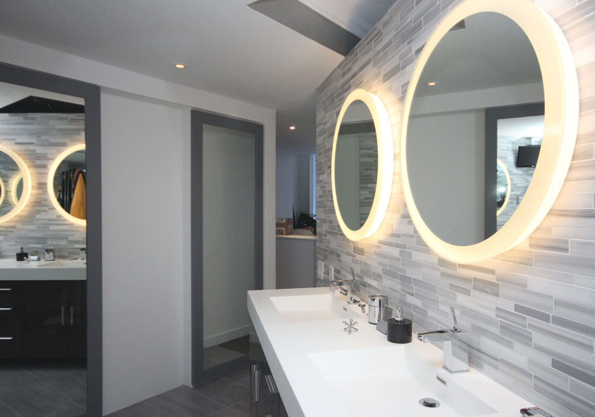 Illuminating & Creative LED Mirror Design Ideas - Sebring Design Build