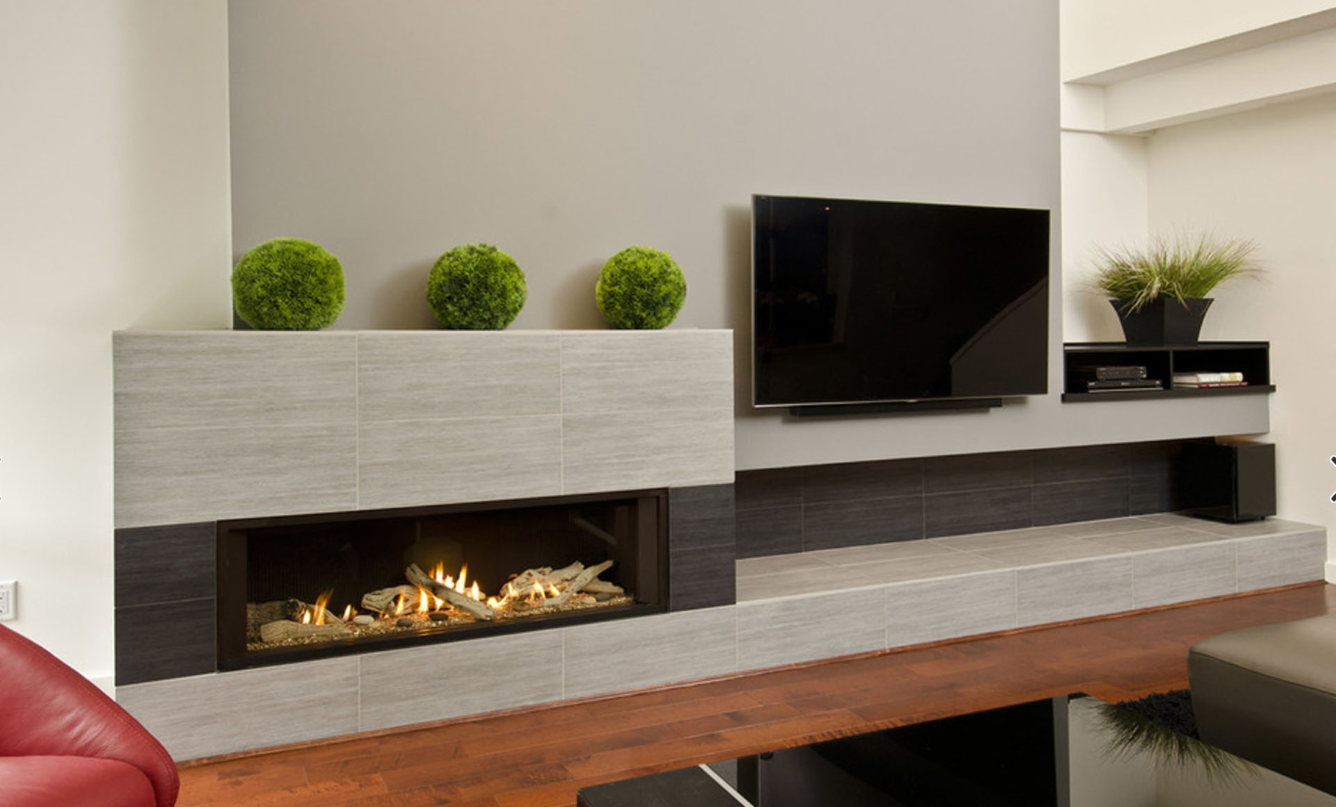 Porcelain Tile Fireplace Ideas