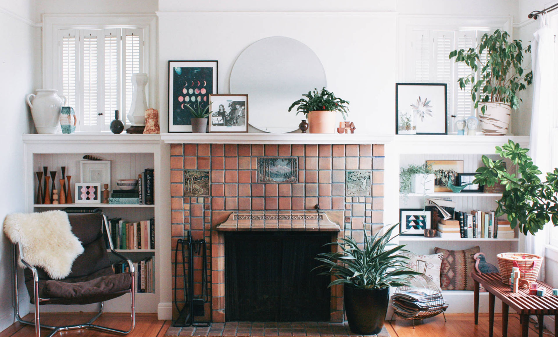 Terra-Cotta Tile Fireplace Ideas