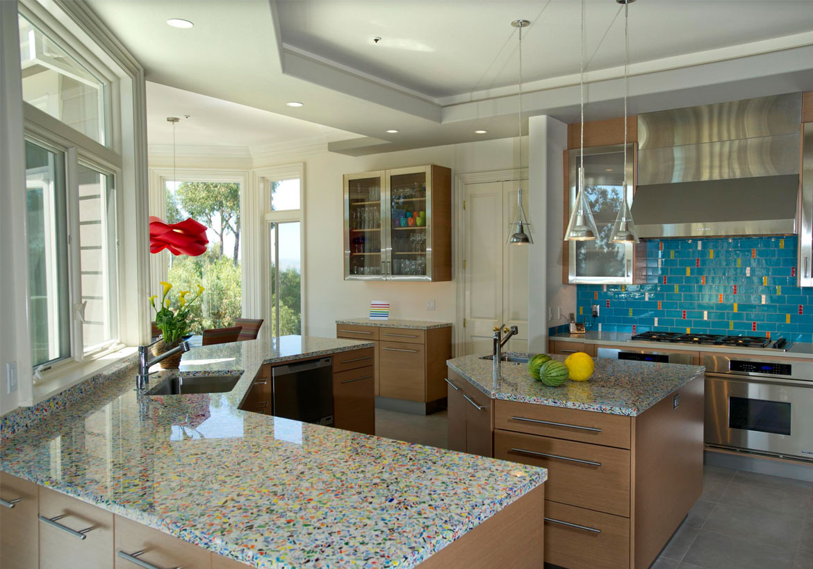 4 Glass Countertop Ideas For Your Next Kitchen or Bathroom ...