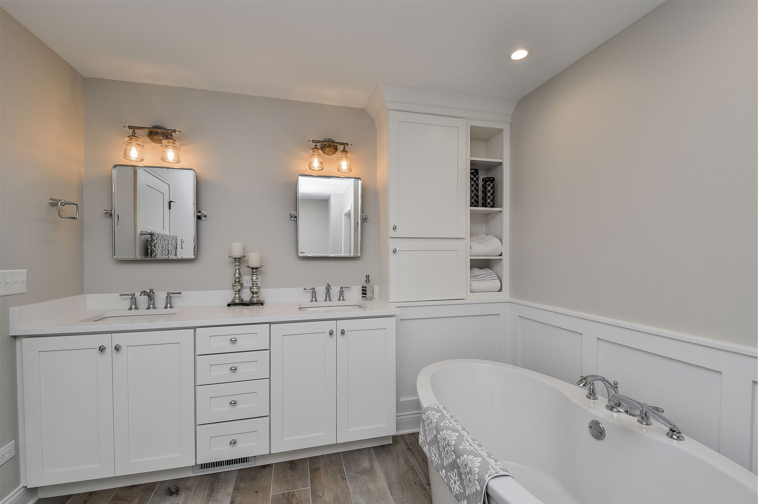 Steve and angie 39 s master bathroom remodel pictures home - Angie s list bathroom remodeling ...