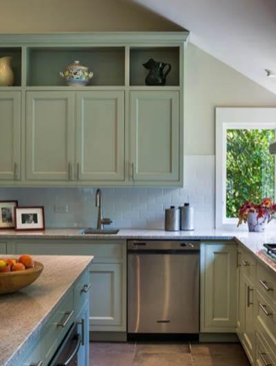 green kitchen cabinets 4