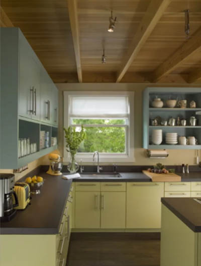 green kitchen cabinets 5
