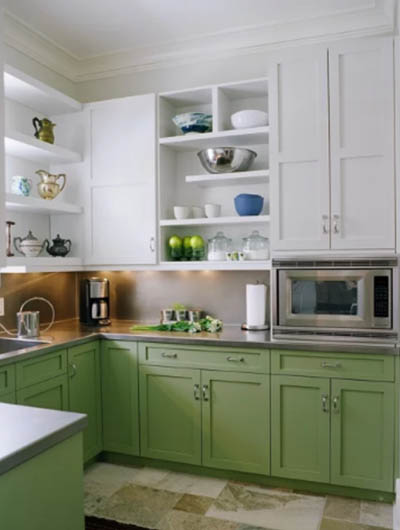 green kitchen cabinets 6