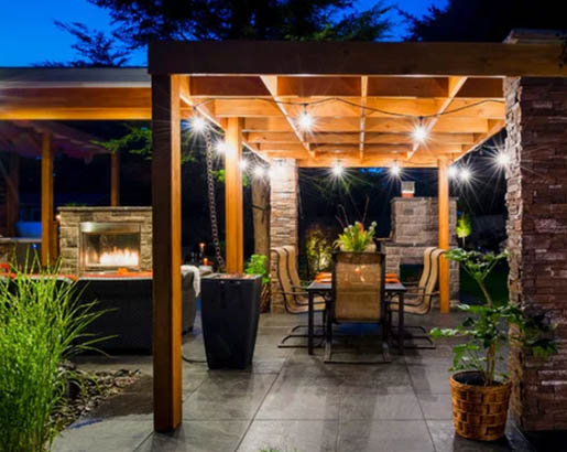30 Outdoor Patio Led Bistro String, Outdoor String Lights For Pergola