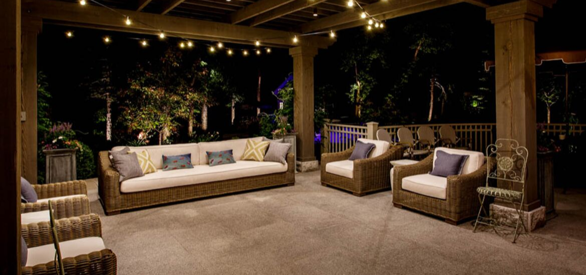 30 Outdoor Patio LED & Bistro String Lights Ideas ... on Backyard String Light Designs id=78190
