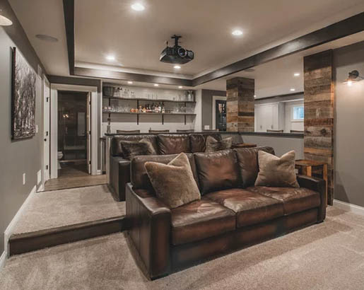 31 Home Theater Ideas | Sebring Design Build | Design Trends Rustic Home Theater Design Ideas on rustic industrial interior design, rustic teenage bedrooms, rustic minimalist interior, rustic and natural landscaping, rustic furniture, rustic style homes, kitchen design ideas, fireplace in living rooms ideas, rustic industrial living room, rustic country homes, prairie style interior design ideas, rustic wedding decorations for lanterns, northwoods decorating ideas, art deco design ideas, bungalow design ideas, garage/shop design ideas, rustic modern barn house, rustic old stone walls, rustic pool house designs, rustic bedroom interior design,