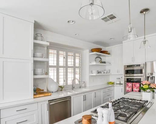 32 Floating Kitchen Shelving Ideas, Kitchen Cabinet Hanging Shelves