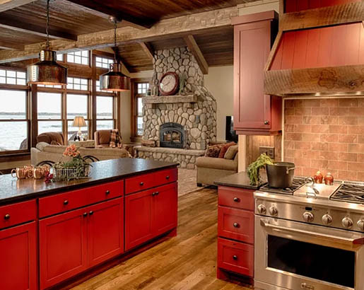 Red Kitchen Cabinets Sebring Design Build Kitchen Remodeling