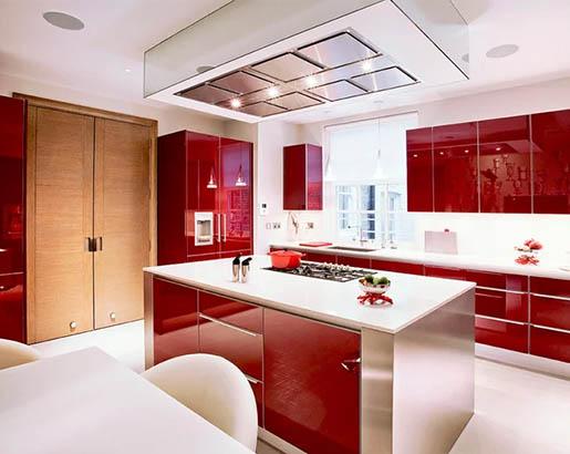 Red Kitchen Cabinets Sebring Design, Red Color Kitchen Cabinets