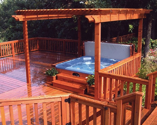30 Hot Tub Deck Ideas Sebring Design Build Trends