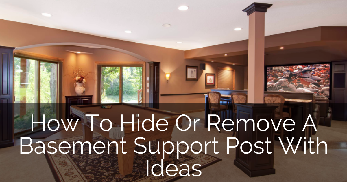 Image of: Basement Pole Covers How To Hide Or Remove Basement Support Post