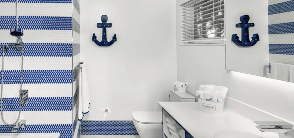31 Nautical Coastal Beach Bathroom, Sailor Themed Bathroom Accessories