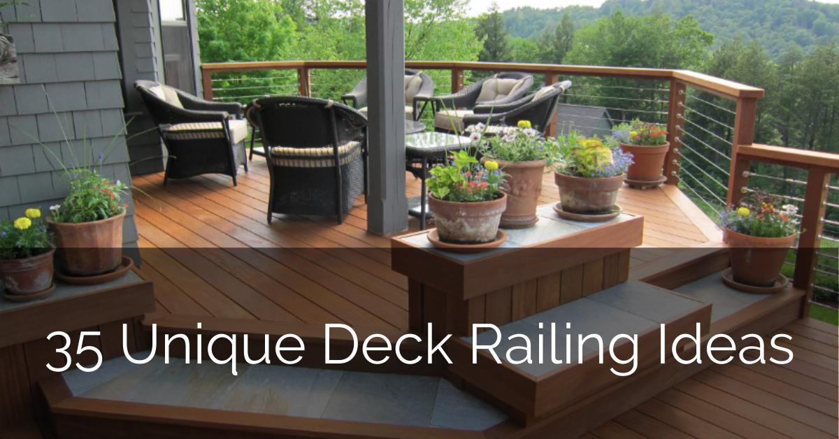 Image of: 35 Unique Deck Railing Ideas Sebring Design Build
