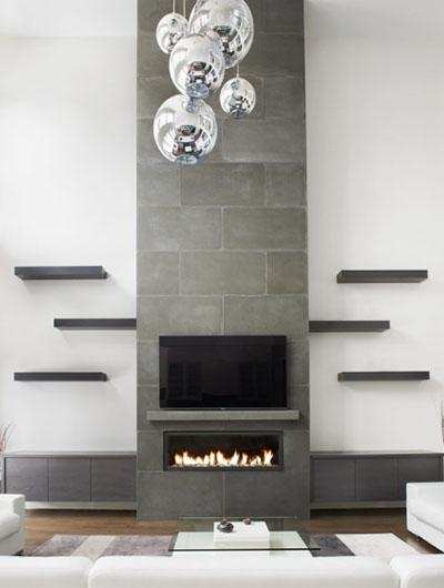 35 Stunning Fireplace Tile Ideas, Ceramic Tile Fireplace Wall
