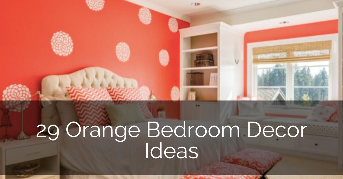 Orange Bedroom Decor Ideas Sebring