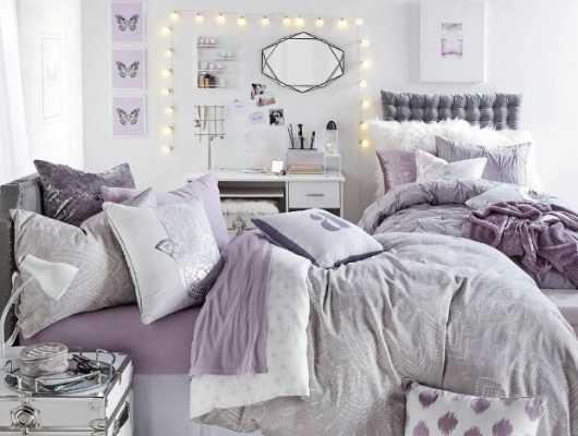 Purple And Gray Bedroom Decor Leadersrooms