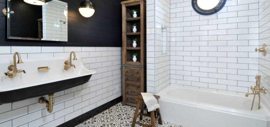 23 Black White Tile Design Ideas, Black And White Bathroom Floor Tile Ideas