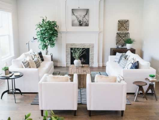17 White Living Room Decor Ideas, White Furniture Living Room Decorating Ideas