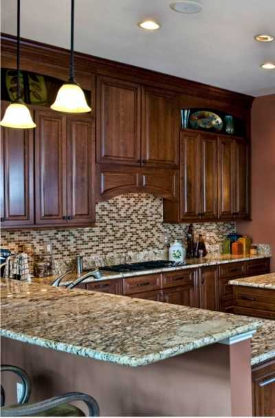 27 Brown Kitchen Cabinet Ideas, Kitchen Ideas With Brown Cabinets