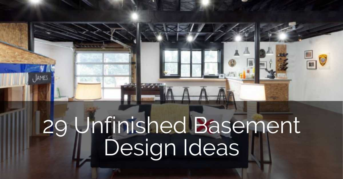 29 Unfinished Basement Design Ideas Sebring Design Build