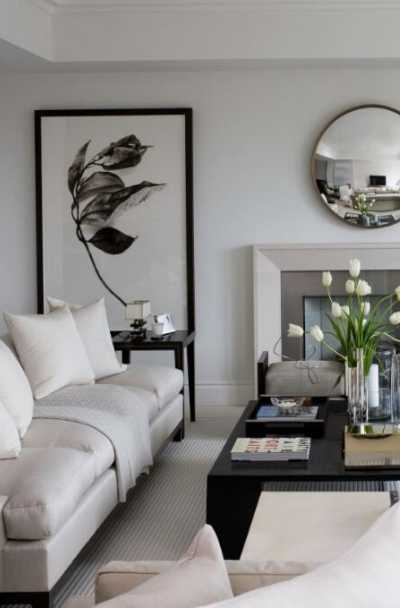 Grey And White Living Room Decor Ideas Leadersrooms