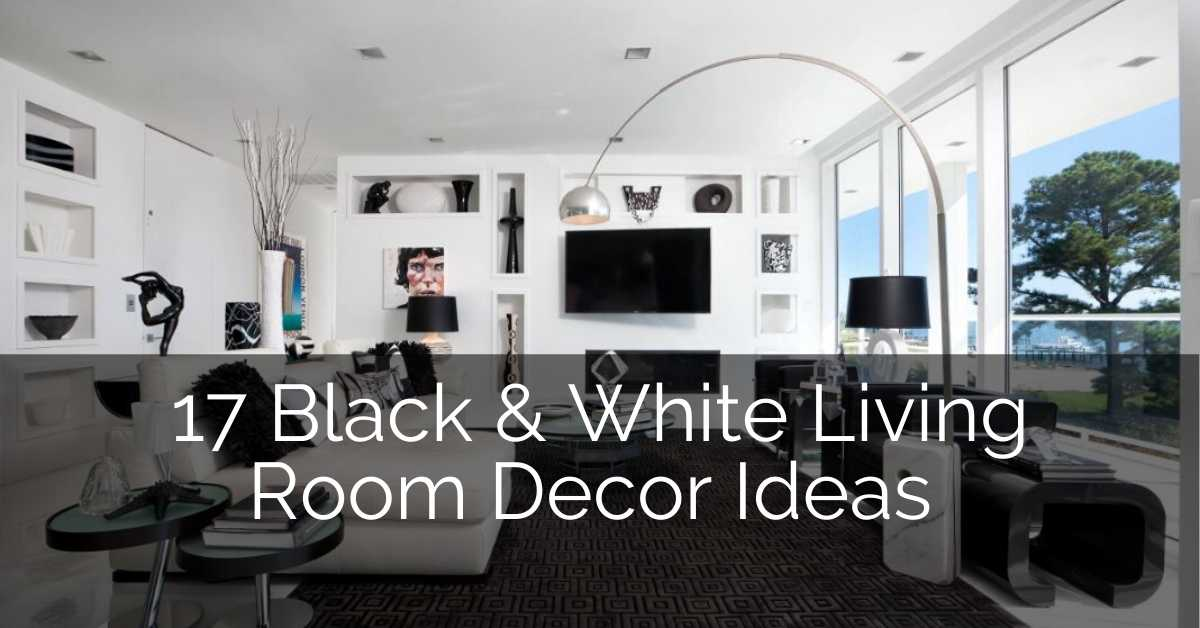 17 Black & White Living Room Decor Ideas | Sebring Design Build