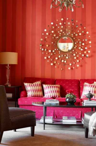 17 Red Living Room Decor Ideas | Sebring Design Buid