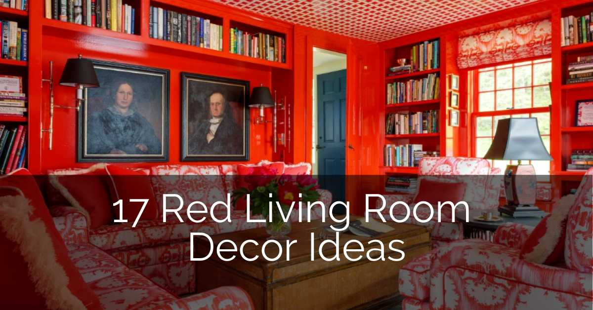 17 Red Living Room Decor Ideas Sebring Design Buid