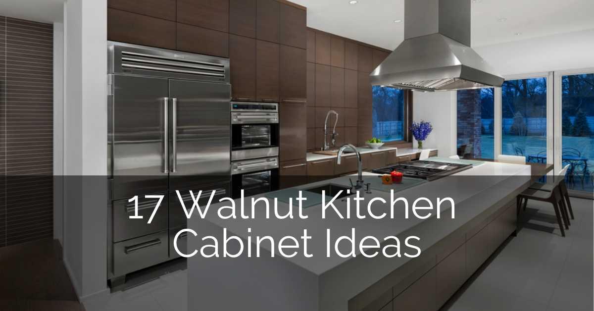 17 Walnut Kitchen Cabinet Ideas, Dark Walnut Kitchen Cabinets