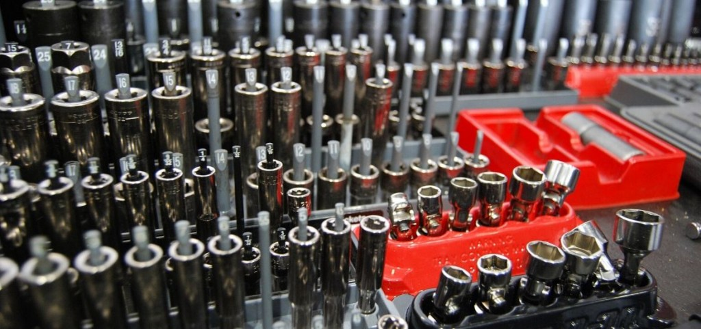 6 Piece Socket Tray Organizer Set Green and Black Socket Rails Holds 80