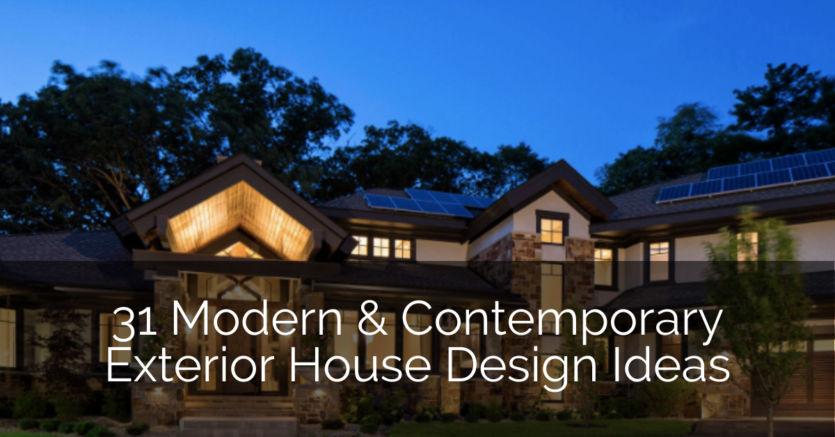 31 Modern Contemporary Exterior House Design Ideas