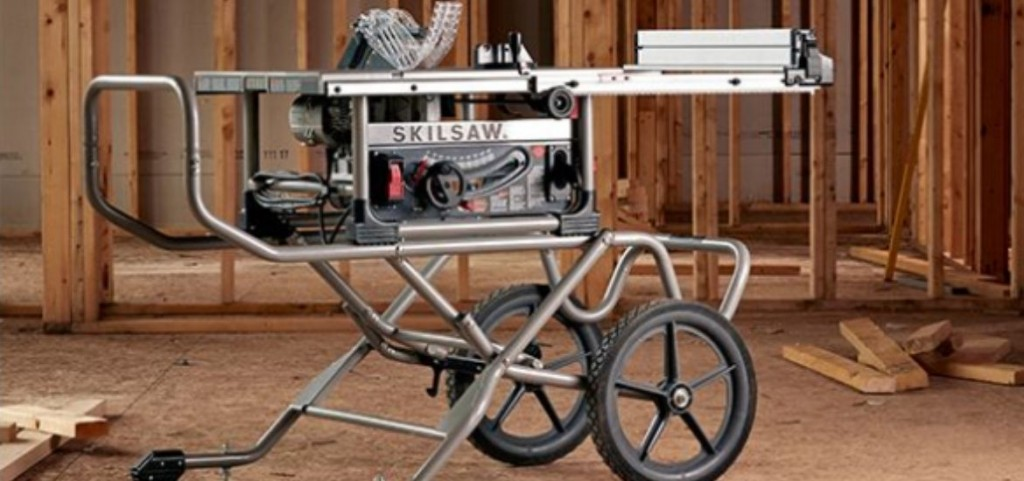 DELTA Steel Adjustable Rolling Miter Saw Stand Support Table Folding Foot Pedal